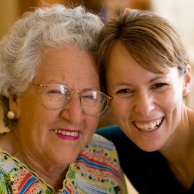 senior woman and personal assistant - potomac concierge moving help