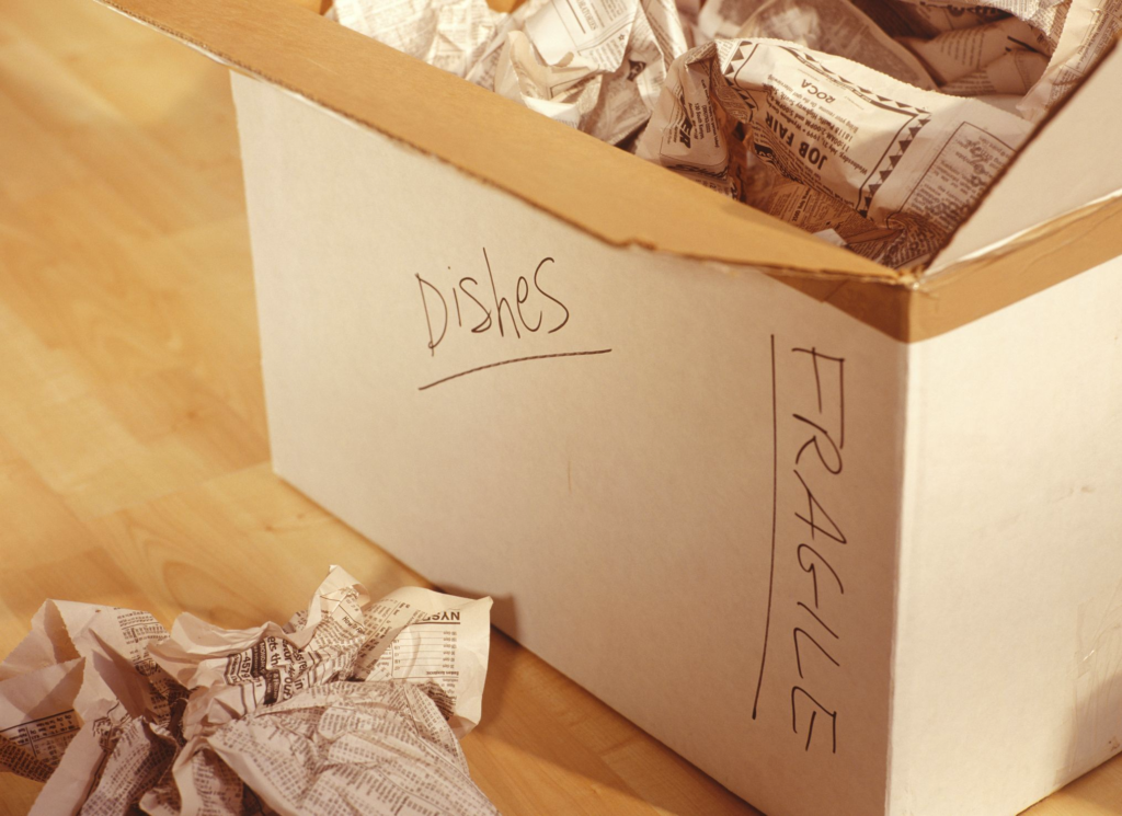 get organized after a move - how to organize your home after  moving, moving boxes