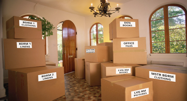 last minute move; moving boxes